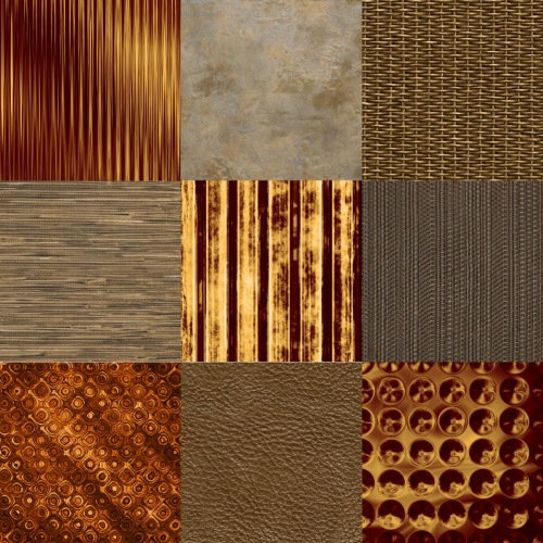 Gold-brown collage